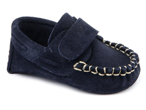 BABY BOYS CORDUROY NAVY BLUE SHOES