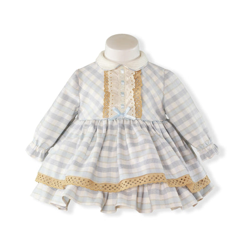 Baby Girls plaid ruffle dress