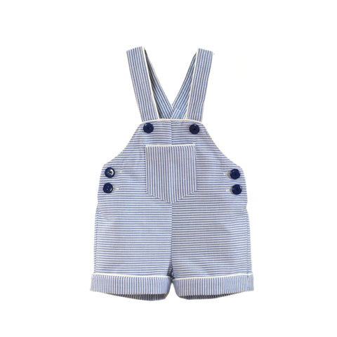 Baby boys stripes and button overall