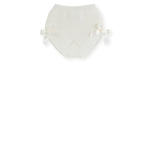 Soft knit bloomer with bows