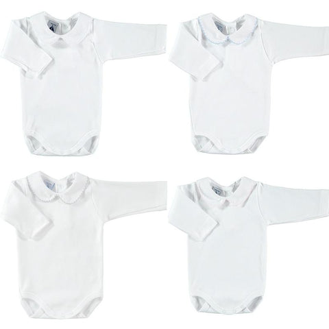 Newborn bodysuit long sleeve with collar