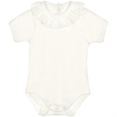 Newborn bodysuit cambric neck