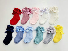 Baby Girls ver  bow  socks
