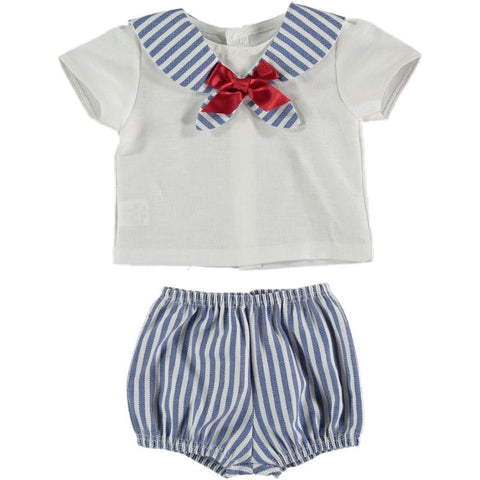 Baby Boys sailor with stripes short set