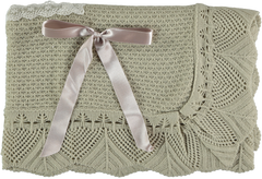 Baby lace with frills blanket