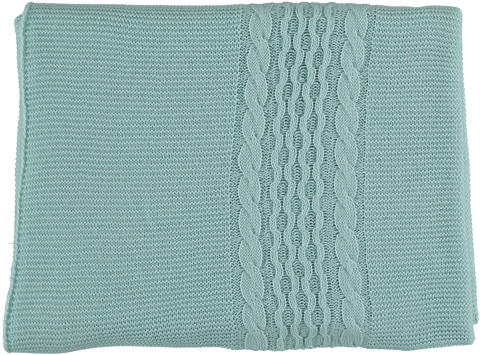Baby aranes braid plait blanket