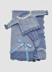 Newborn 3p set stripes and lace