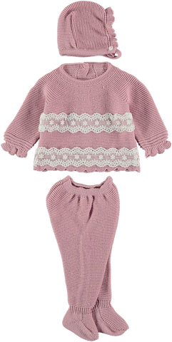 Newborn 3p set double lace