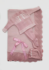 Newborn 3p set buttons and stripes