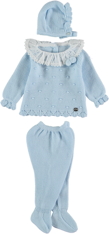 Newborn 3p set plumeti collar and dots inv