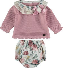 Girls floral print inv set