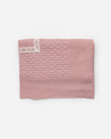 Baby square and lace blanket blanket sum