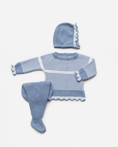 Newborn stripes with white 3p set