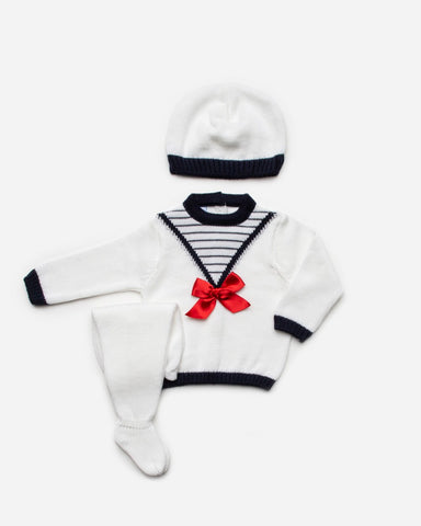 Newborn sailor 3p set white