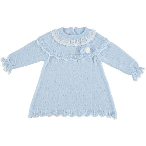 Baby Girls long sleeve pom poms dress