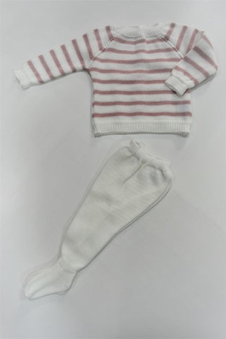 New Born coming striped set of 2 pieces