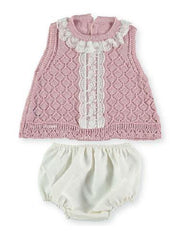 Baby Girls sleeveless top with lace details 2p set