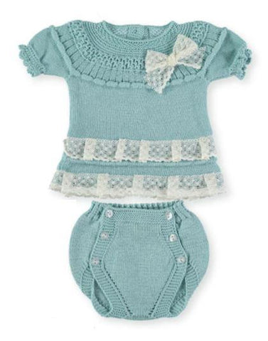 Baby girls set 2p lace ruffles