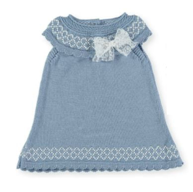 Baby Girls rhombus bow dress
