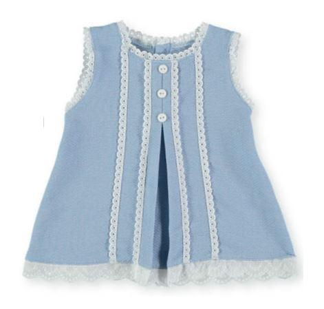 Baby Girls Dress Puntilla buttons