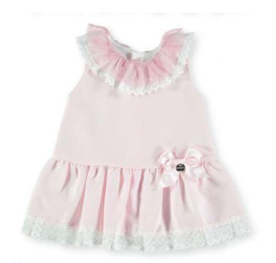 Baby Girls Dress lace plumeti collar