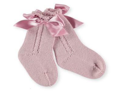 Baby Girls Knee high socks with bow
