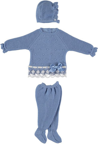 Newborn 3p set dots lace details