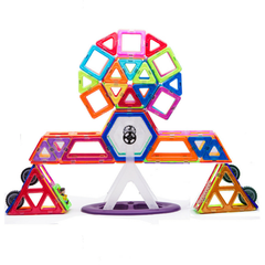 Joc de Constructie Magnetic Educativ 3D - Amazing Set (108 piese) - Smart One