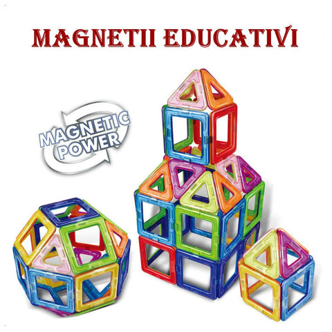 Joc de Construcție Magnetic Educativ 3D - Inspire Set (30 piese) - Smart One