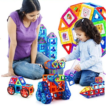 Joc de Construcție Magnetic Educativ 3D - Starter Set (14 piese) - Smart One