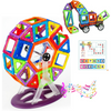Image of Joc de Constructie Magnetic Educativ 3D - Super Set (77 piese) - Smart One; compatibil cu MagFormers, MagSpace, MagPlayer