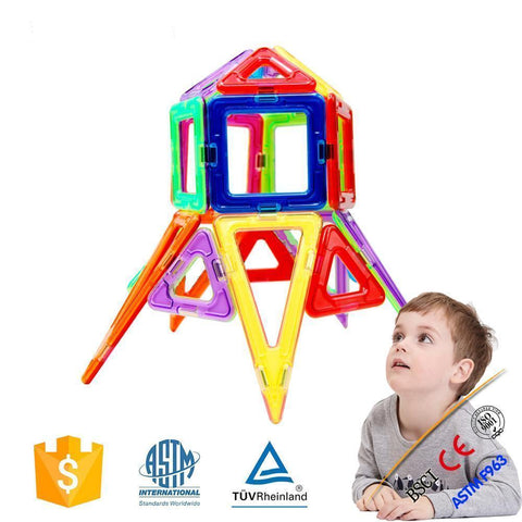 Joc de Construcție  Magnetic Educativ - Fun Set (62 piese) - Smart One
