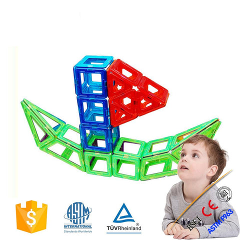 Joc de Constructie Magnetic Educativ 3D - Smart Set (62 piese) - Smart One; compatibil cu MagFormers, MagSpace, MagPlayer