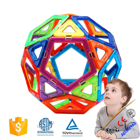 Joc de Constructie Magnetic Educativ 3D - Smart Set (62 piese) - Smart One
