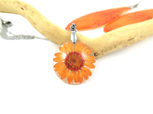 BIRTH MONTH FLOWER November - Chrysanthemum, Real Flower jewelry