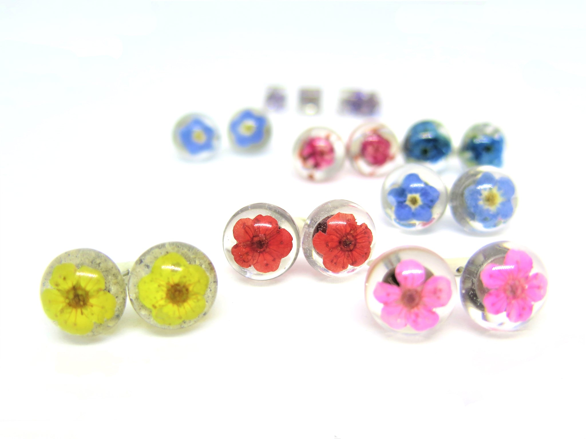 style flower resin icons stud earrings amariella big jewel pin baublebar