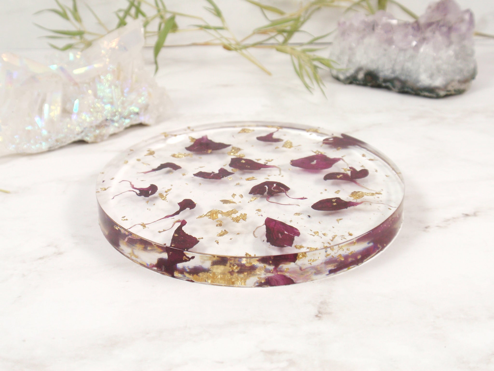 Real flowers Home decor resin coaster drinkware housewarming gift