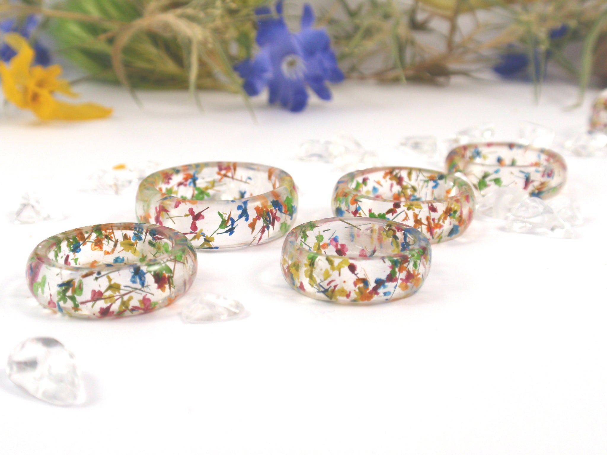 real flower ring