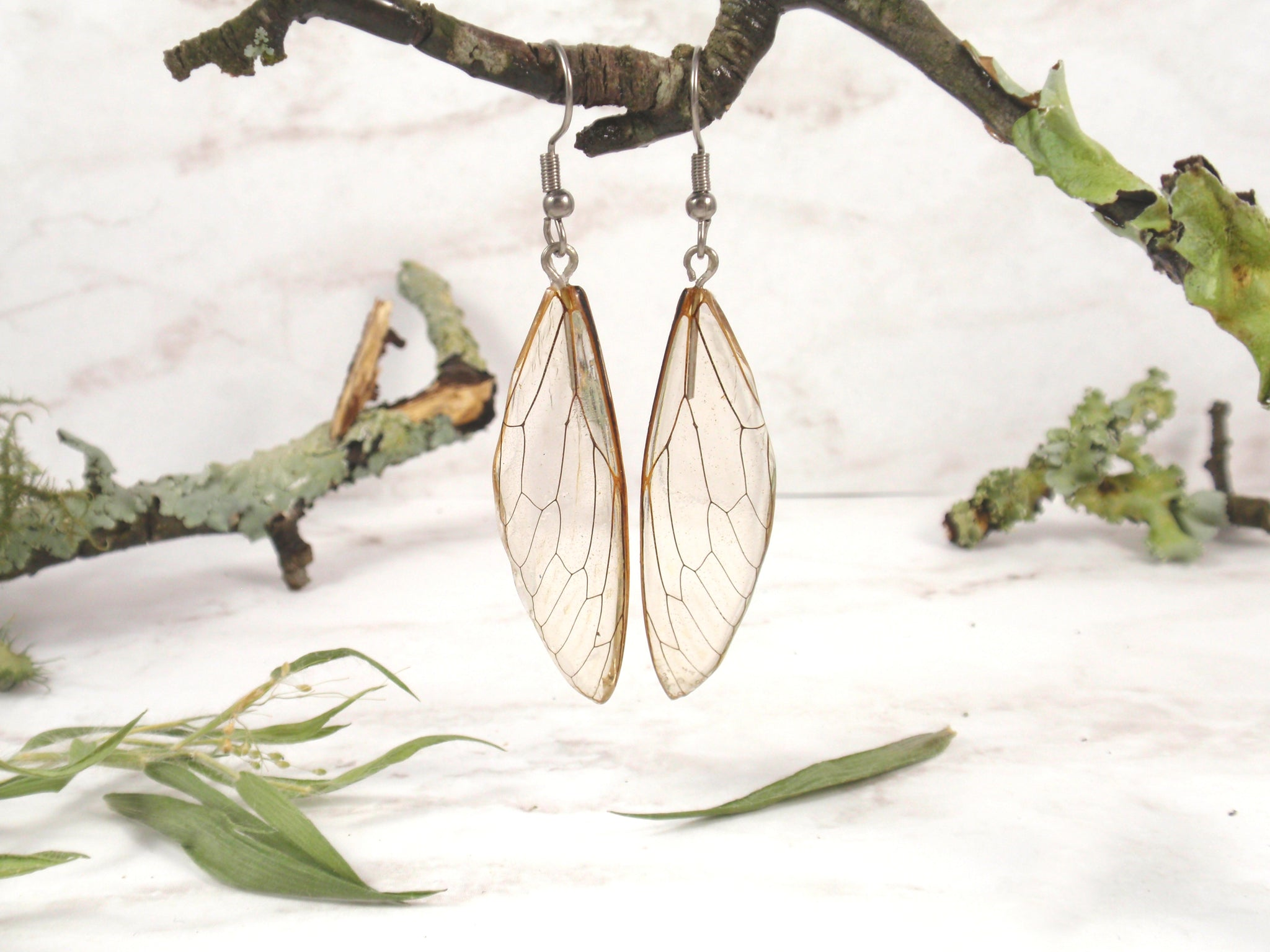 Cicada earrings handmade resin earrings