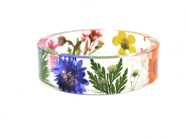 Botanical jewelry- Rainbow flower bracelet