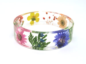 rainbow flower bangle