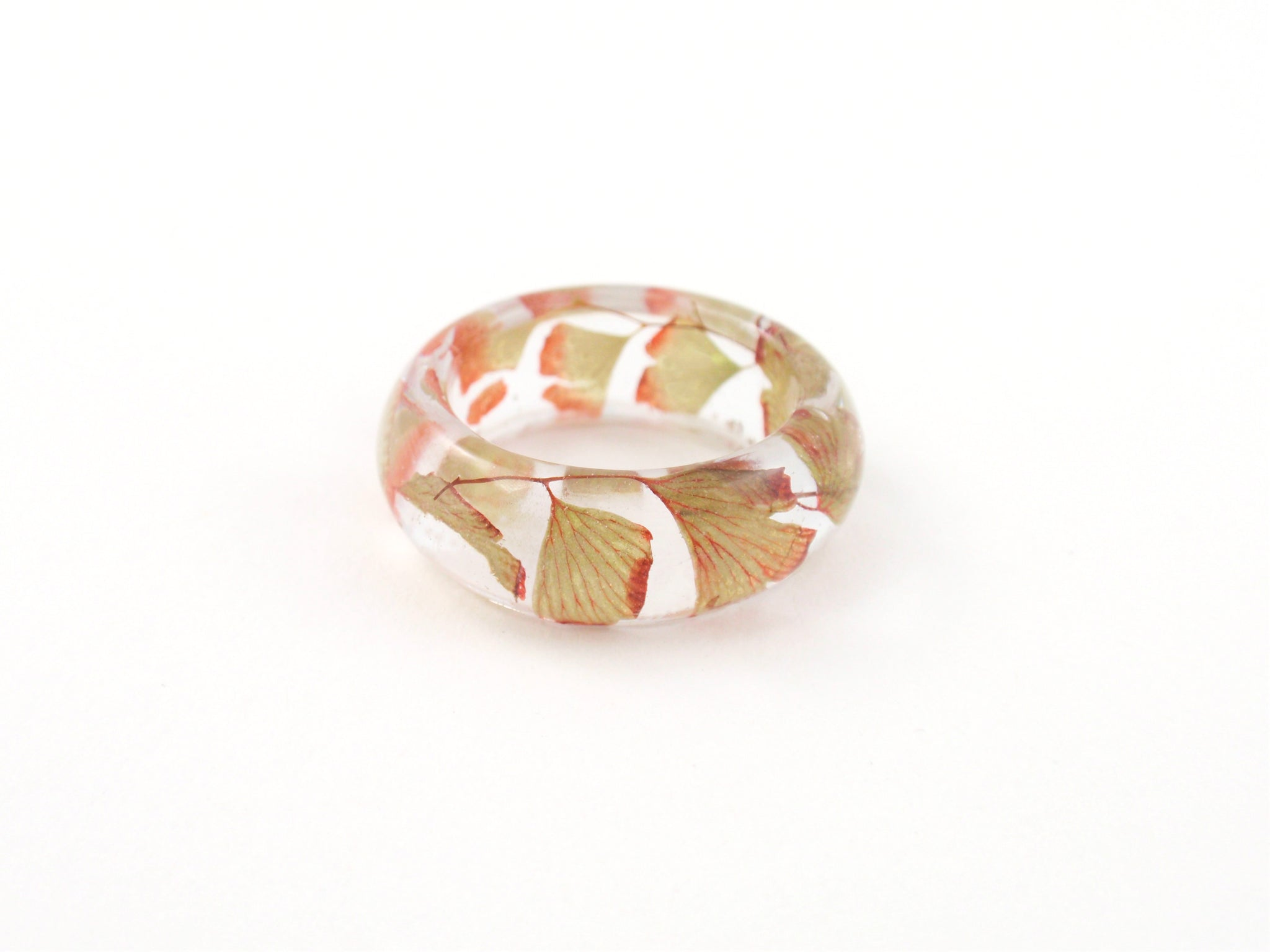 Nature ring, Botanical jewelry, Autmn leaves