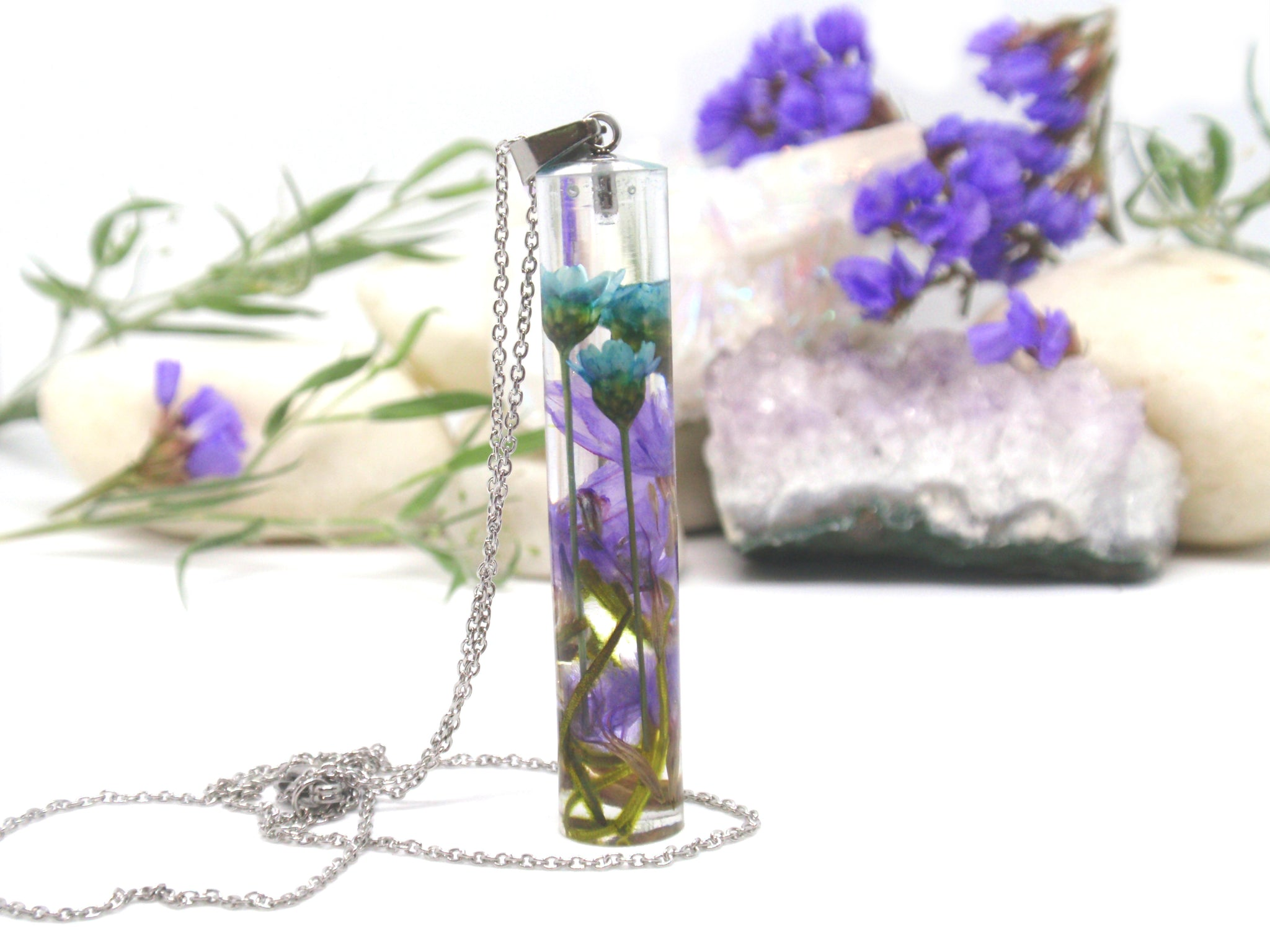 Starflower Terrarium necklace