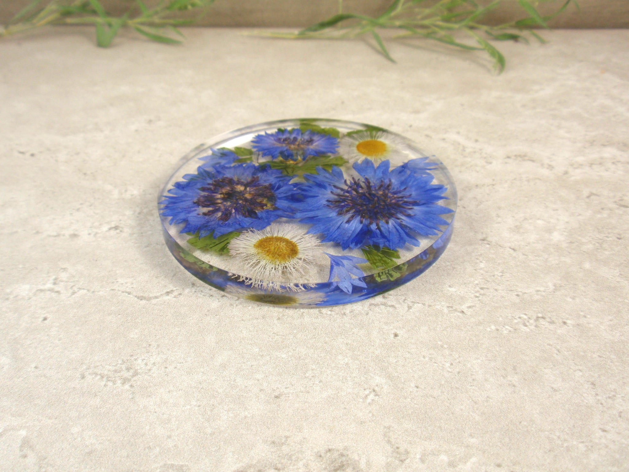 Home decor Real flower resin coaster drinkware housewarming gift