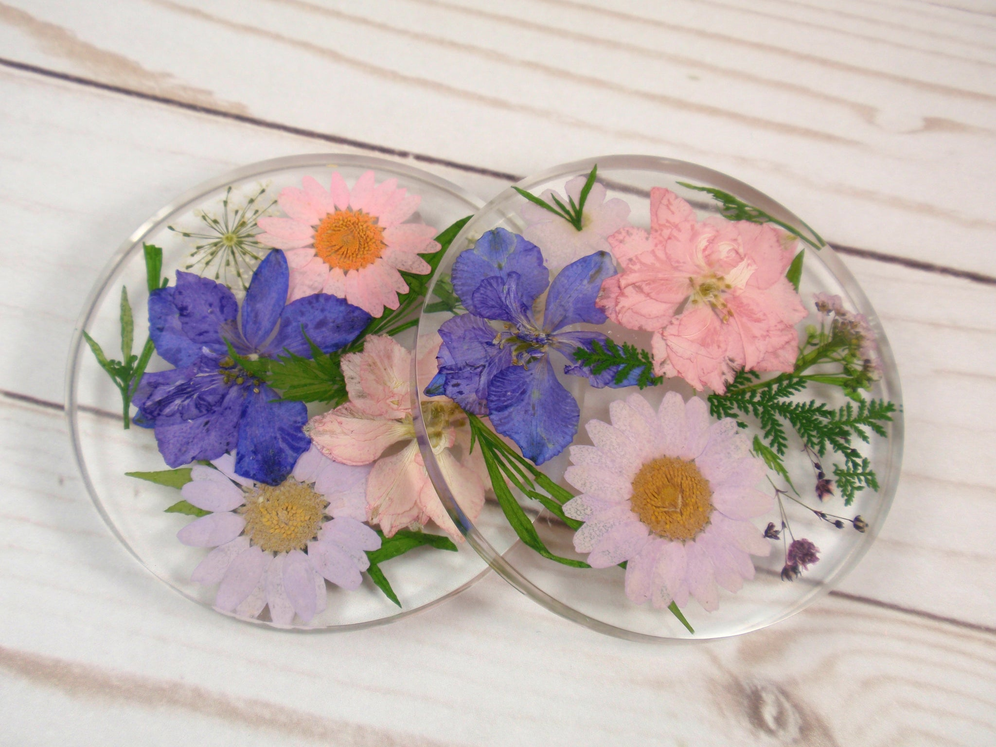 Real flower resin coaster decorative tile home decor
