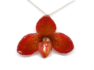 Paphiopedilum Concolor Orchid Jewelry Necklace
