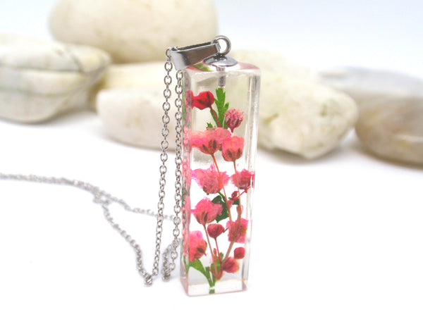 handmade jewelry with real flowers