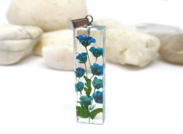 handmade pressed flowers terrarium necklace