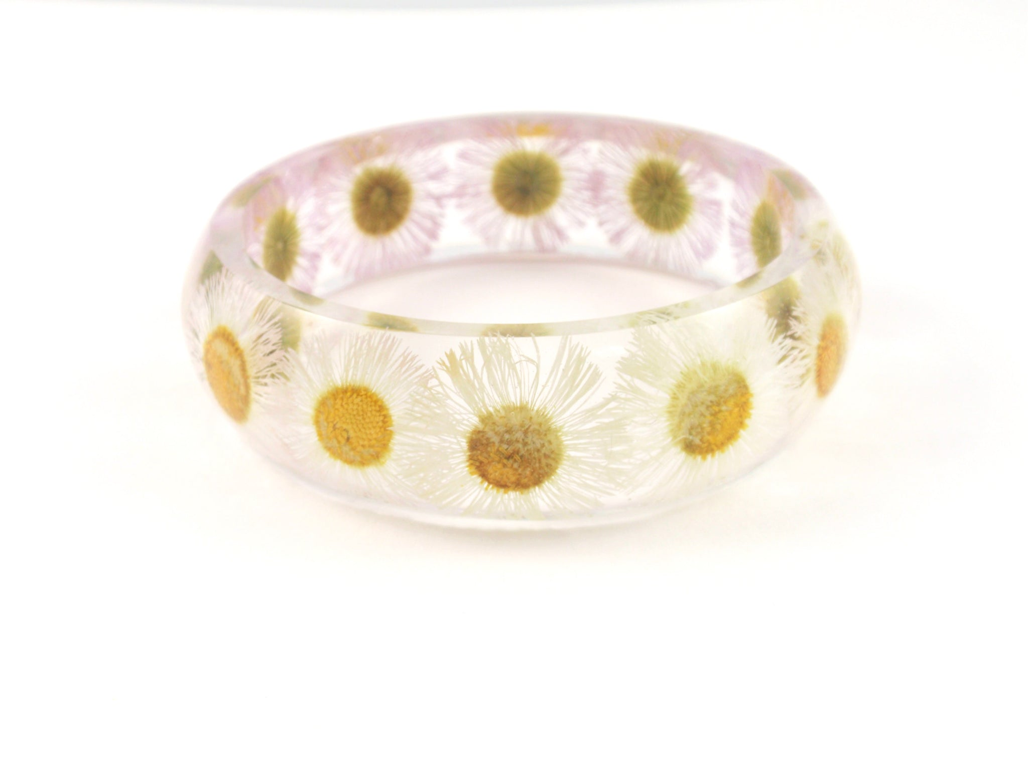 Real Daisy botanical bangle Bracelet