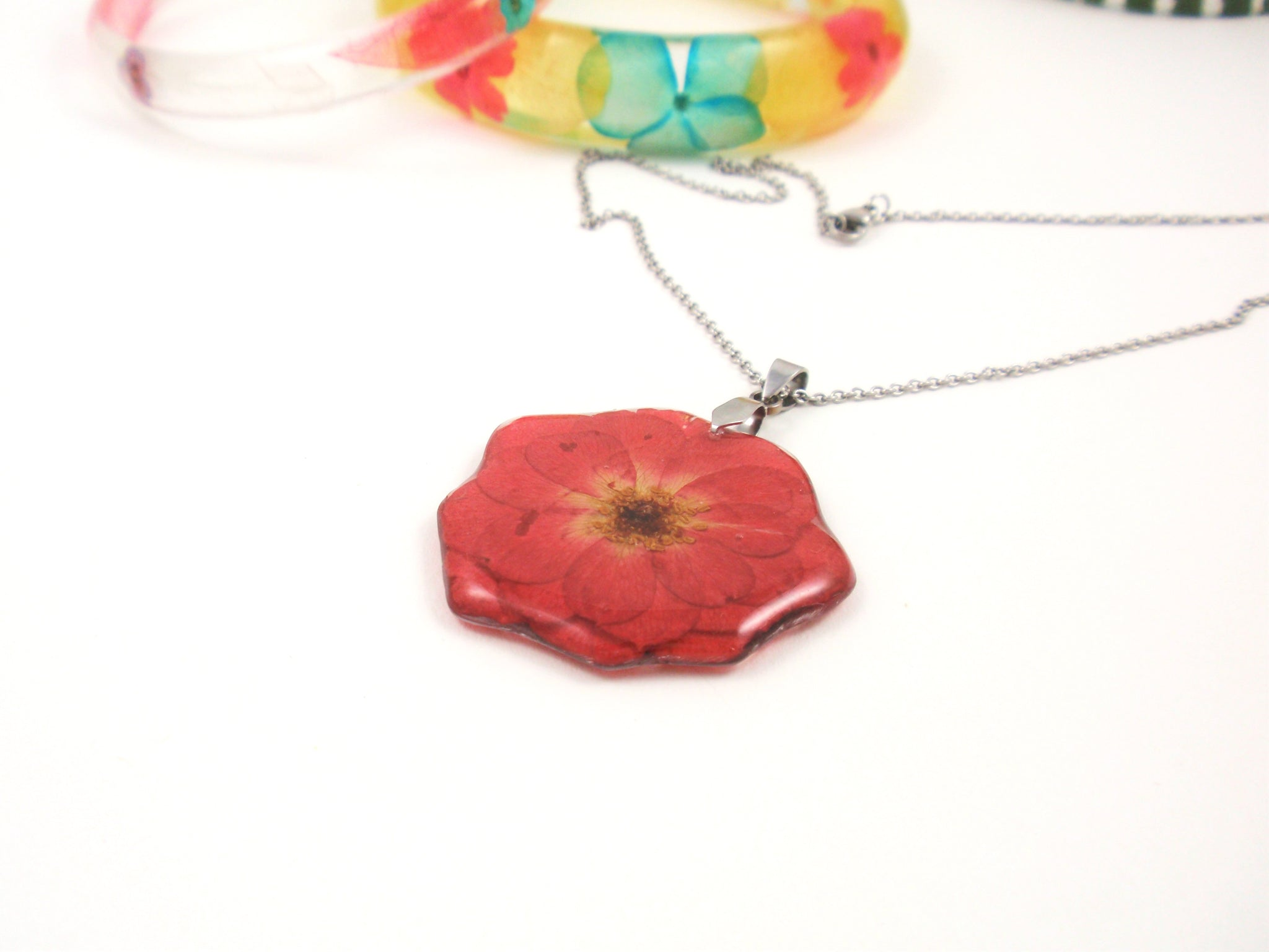 Real Rose jewelry,  Birth Month flower June
